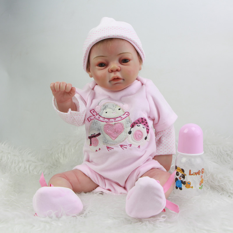Newborn Reborn Baby Doll 20 Inch Full Silicone Vinyl Lifelike Princess Girl Babies Lovely Dolls Toy Kids Birthday Xmas Gift 20 inches handmade doll reborn lifelike american girl newborn bebe dolls silicone vinyl baby toddler toy kids new year gift