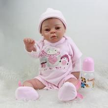 Newborn Reborn Baby Doll 20 Inch Full Silicone Vinyl Lifelike Princess Girl Babies Lovely Dolls Toy Kids Birthday Xmas Gift