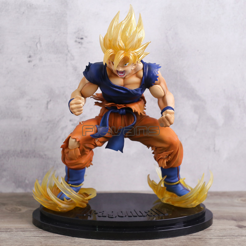 Dragon Ball Kai Super Saiyan Son Goku Gokou Ver. 2 Statue PVC Figure Collectible Model Toy 28CM dragon ball dxf the super warriors vol 3 super saiyan rose gokou black and vegetto pvc figure collectible model toys kt4201
