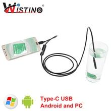 7 мм Автомобиль Эндоскоп Android Мини-Камера Типа с USB Мягкий Кабель Водонепроницаемый Осмотр Трубы Наблюдения 5 м Змея промышленные Wistino