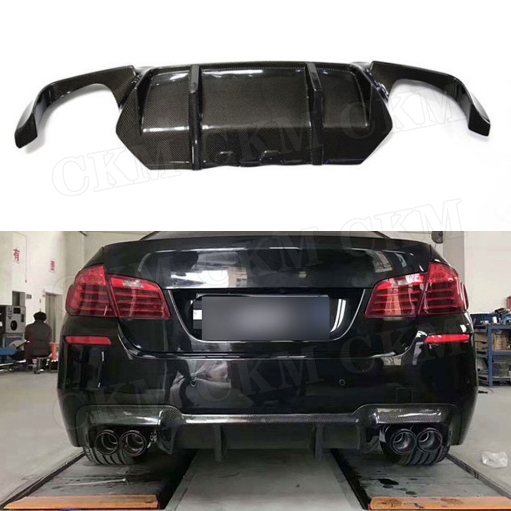5 Series Carbon Fiber Rear <font><b>Bumper</b></font> Extension Fit For <font><b>BMW</b></font> <font><b>F10</b></font> M5 Sedan 2012 - 2017 3D Style FRP Rear Lip Diffuser image