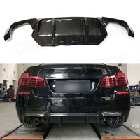 5 Series Carbon Fiber Rear Bumper Extension Fit For BMW F10 M5 Sedan 2012 2017 3D Style FRP Rear Lip Diffuser