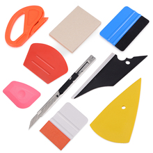 FOSHIO Auto Car Carbon Fiber Vinyl Wrap Squeegee Scraper Set Sticker Foil Film Cutter Knife Window Tint Wrapping Tools