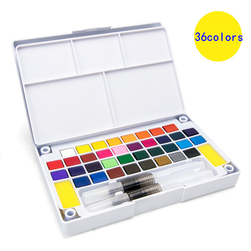 12/18/24/36Colors Halloween Solid Watercolor Paint Suit Watercolor For Brush Pen Painting Drawing Students Artist Art Supplies let us paint together plant flowers watercolor pen painting drawing art book