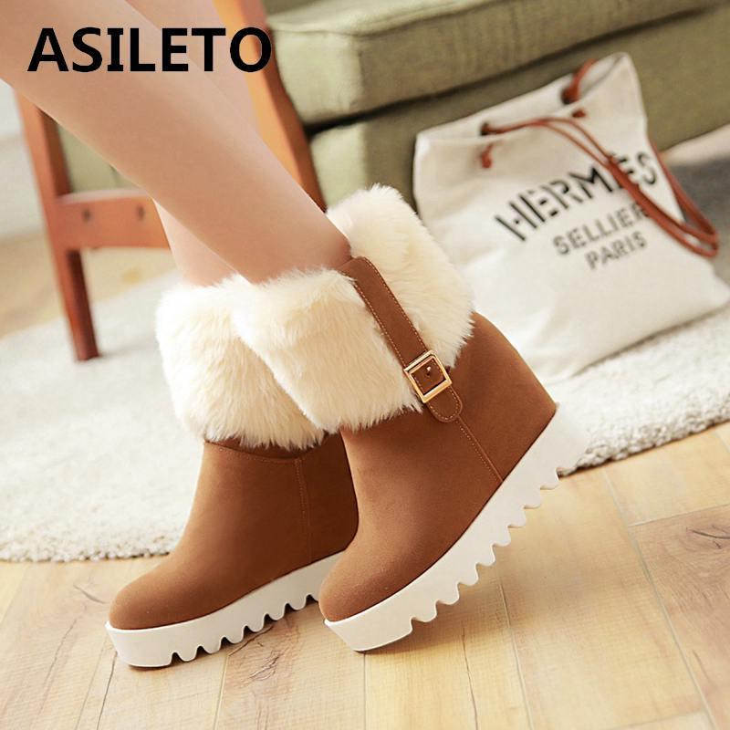 Womens Winter Flat Faux Suede Low Heel Zip Back Lace Ankle Boots Hidden Wedge Sh