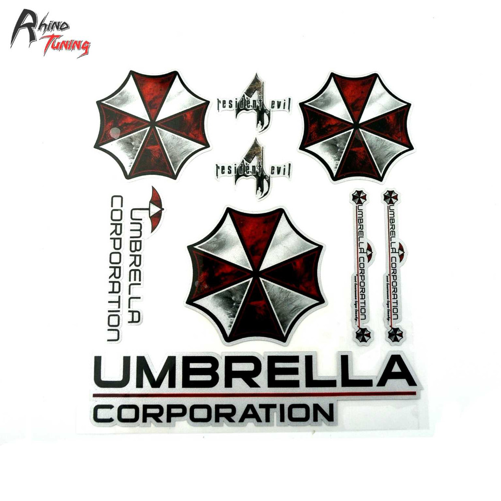 Rhino Tuning 1PC UMBRELLA CORPORATION Sticker Car Window BODY Side Stripe Tail Sticker for Styling Auto SUV Decal 768 high quality alaskan malamute retriever vinyl window dog decal sticker for car suv body
