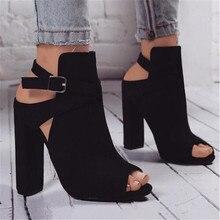 Women Sandals Gladiator High Heels Strap Pumps Buckle Strap