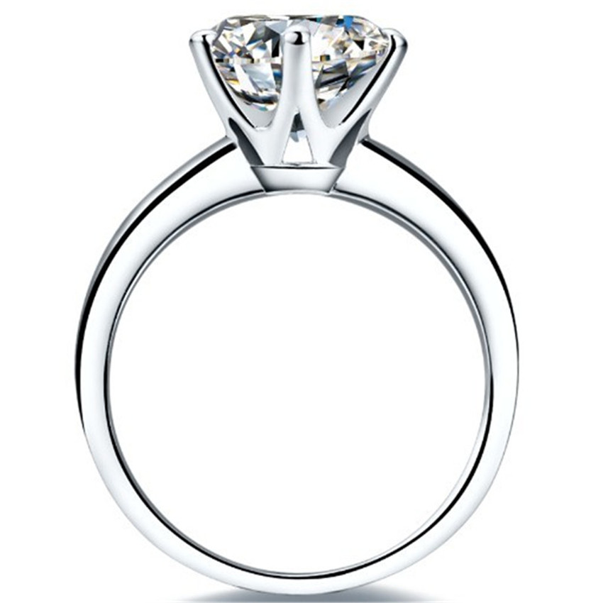 Positivo 0.6Ct G H 5,5mm céltico anillo mujer anillo de plata esterlina 925, anillo de oro blanco Color-in Anillos from Joyería y accesorios    3