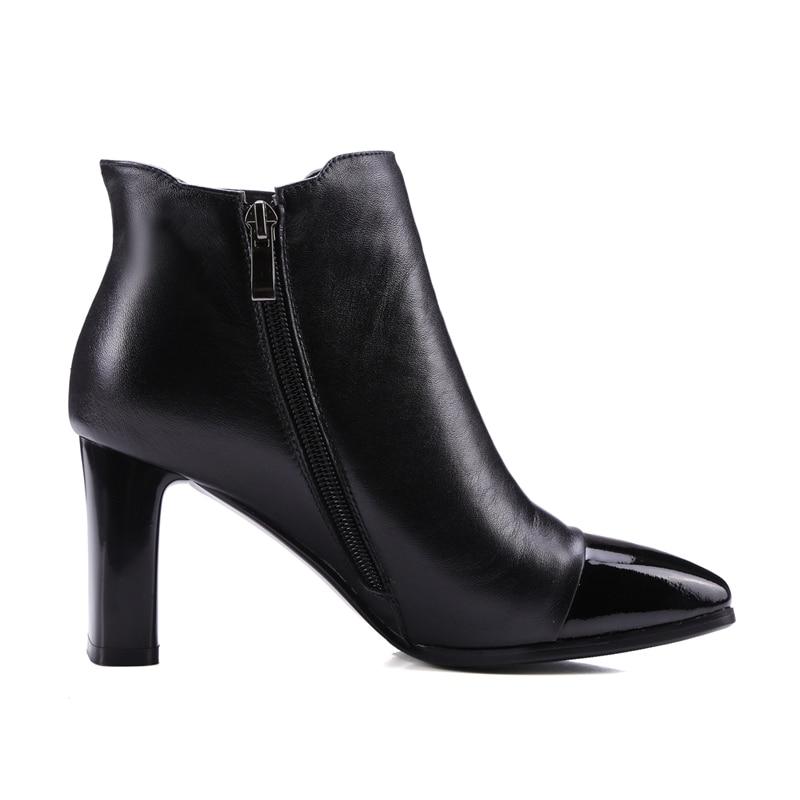 Chaussures De D'hiver Talon Size34 Enmayer Femmes Cheville Orteil Black Carrés Mujer Zyl1757 Zapatos 40 Carré Hiver Bottes 78qw5gRvx