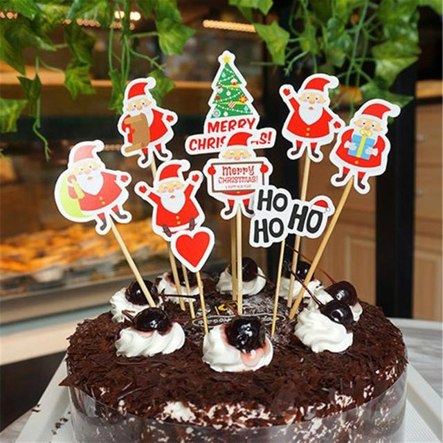 10pcs Set Birthday Party Cake Topper Decoration DIY Handmade Halloween Christmas Flaming Bird Unicorn Supplies