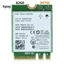 Senza fili Per Intel 8260 AC 8260NGW Dual Band 867 Mbps NGFF Scheda di Rete Wifi 8260ac 2.4 Ghz/5 Ghz 802.11ac Bluetooth 4.2 Per Il Computer Portatile