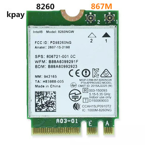 Image 1 - Wireless For Intel 8260 AC 8260NGW Dual Band 867Mbps NGFF Wifi Network Card 8260ac 2.4Ghz/5Ghz 802.11ac Bluetooth 4.2 For Laptop