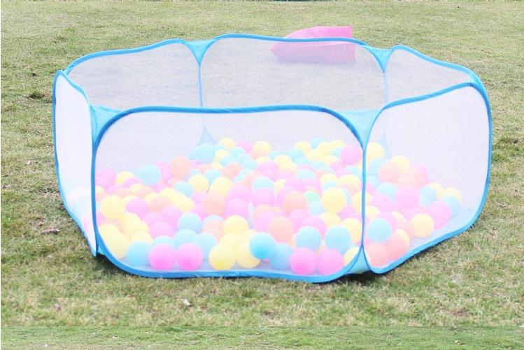 120cm Safety Baby Playpen Kids Portable Square Net Ocean Pit Ball Pool Play Toy Tent