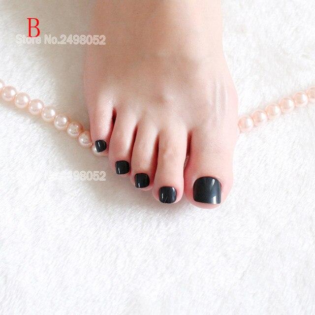 Online Shop Fashion Colorful False Nail Toe Tips Artificial Nails ...