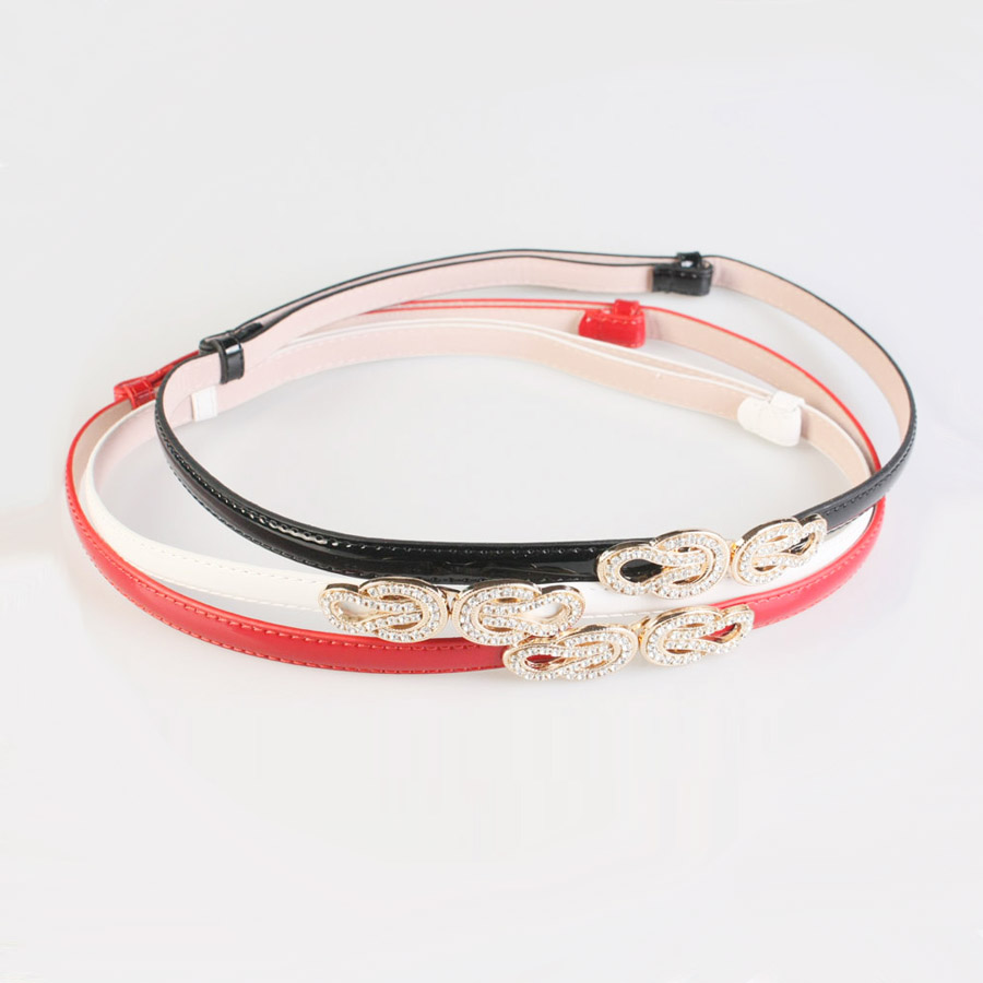 Lengthen Grey Fashion All-match Decoration Red Thin Belt Female Knitted White Pearl Belly Chain H092 Apparel Accessories