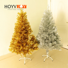 HOYVJOY 1.5 Meter Christmas Tree Gold Sliver Flocking Home Decorations New Year Gift Wholesaler Customizable