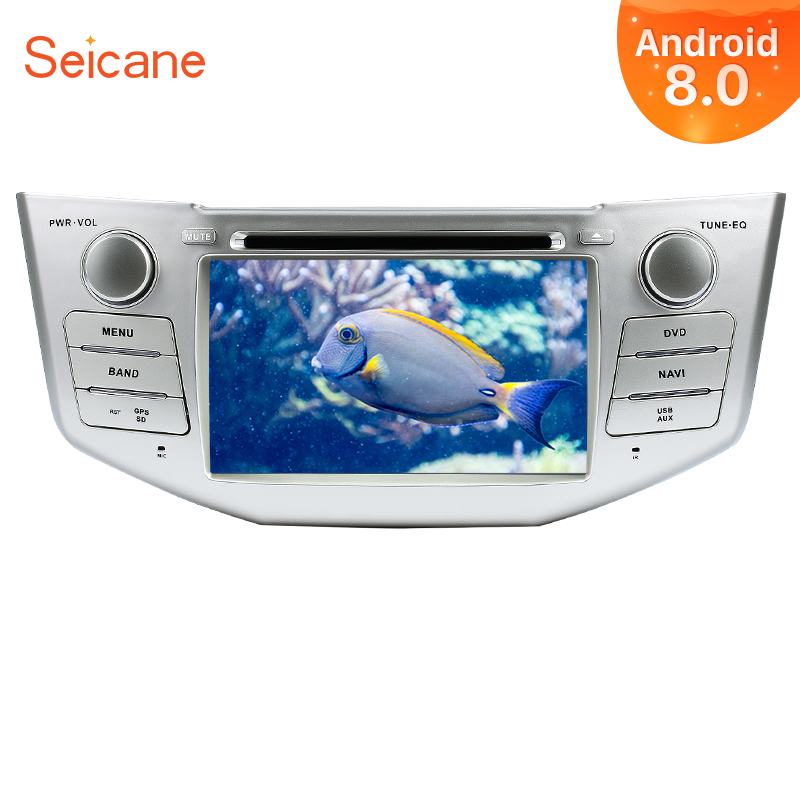 Seicane Android 8,0 7 Radio de coche para Lexus RX 400 h RX 330 RX 350 RX 300 Toyota Harrier 2Din GPS navegación Multimedia Player