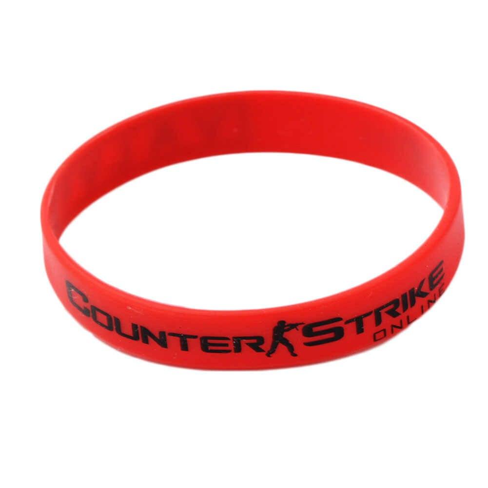 Counter Strike CSGO Braclet rojo Amarillo Blanco Cross Fire Braslet para el juego masculino juego CS GO pulseras de goma de silicona para la Diabetes