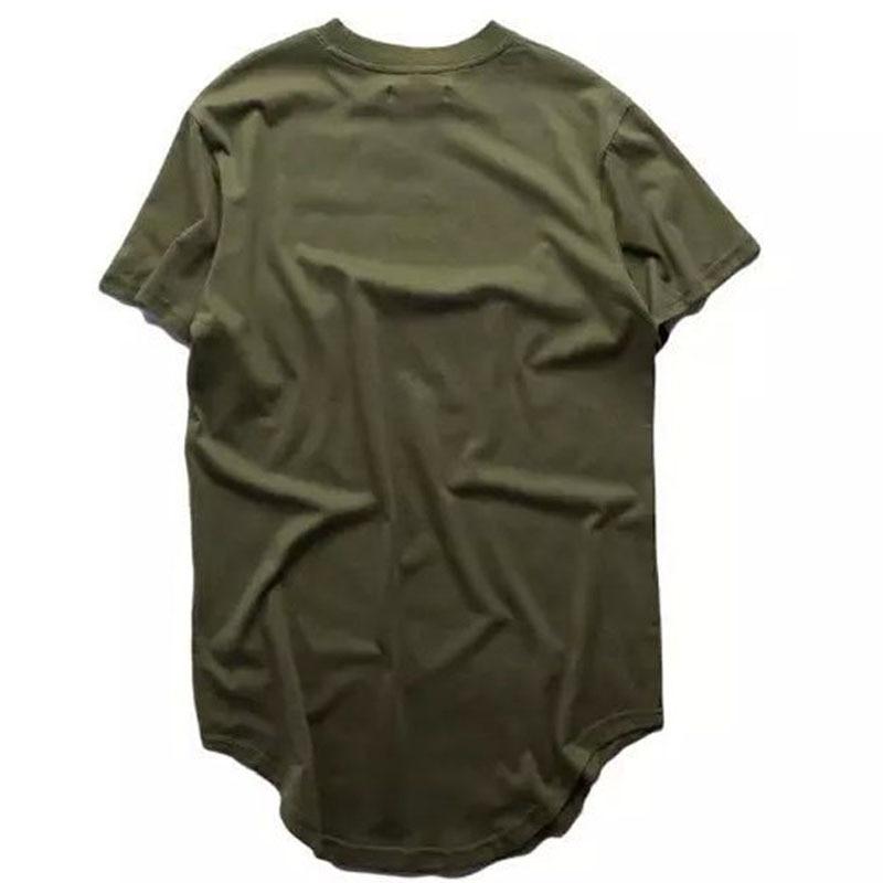 2018 Yaz erkek Genişletilmiş Hip Hop Sokak Temel T-Shirt Sonra Uzun - Erkek Giyim - Fotoğraf 3