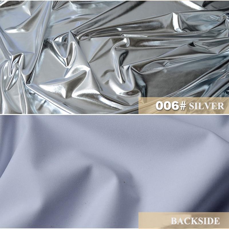Լյումինեսցենտ արծաթե ծածկույթներ Տրիկոտաժե գործվածքներ Հոլոգրաֆիկ հագուստ / լազերային / արծաթափայլ ձգվող տրիկոտաժե գործվածք