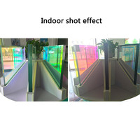 Rainbow Window Films Vinyl Chameleon Color Self adhesive Privacy Glass Stickers Party Wedding Decor 137cm by 300cm