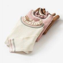 Minibalabala/свитер для маленьких девочек; Детская Вязаная весенняя одежда; Однотонный пуловер с воротником под горло; свитер для девочек; одежда для От 2 до 7 лет
