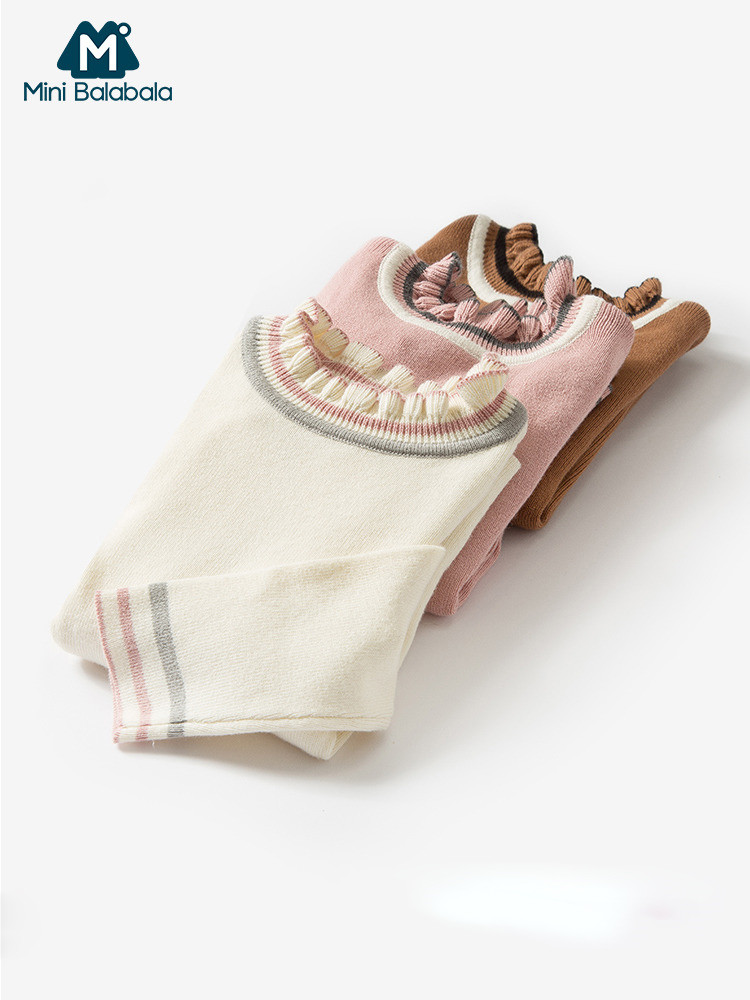 Minibalabala девочек младенческой свитер детская вязаная весенняя