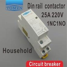 1NO 1NC CT1 2 P 25A 220 V/230 V 50/60 HZ Din rail Hogar contactor de la ca