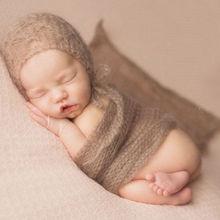 Горячая Распродажа детский реквизит для фотосъемки длинный шарф эластичная вязаная пеленка пеленки для фотографирования новорожденных тканевые аксессуары