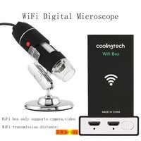 WiFi Digital Microscope 8 LED Two in one USB Endoscope Camera Microscopio 500X 1600X Stereo Electronic Magnifier Plug and Play