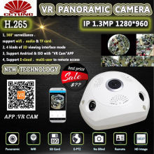 Panorama 360 Degree Panoramic ONVIF Wifi IP Camera Sony IMX322 5MP Fish Eye Wireless 802.11b/g/n Inner Infrared Free Shipping