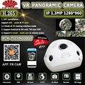 Panorama 360 Grad Panorama ONVIF Wifi Ip kamera mit IMX322 1.3MP Fisch Augen Drahtlose 802.11b/g/n Innen infrarot Kostenloser Versand-in Überwachungskameras aus Sicherheit und Schutz bei