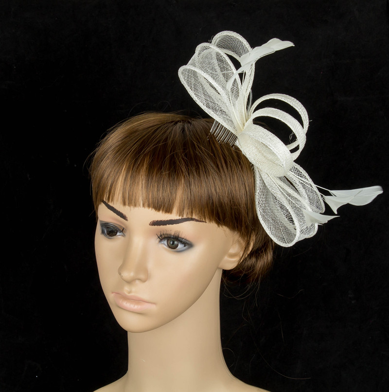 2c3adc74 sinamay fascinator hats good bridal wedding hats cocktail hats occasion  headwear millinery hairstyles hat Free shipping 21 color-in Women's Hair  Accessories ...