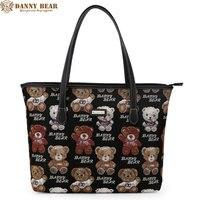 DANNY BEAR Fashion Designers Women Handbags Vintage Ladies Tote Handbag Portable Female Shoulder Bags Large Black Shopping Bag