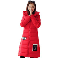 Winter-Women-Feather-Cotton-Coat-New-Solid-Color-Hooded-Jacket-Plus-Size-Keep-Warm-Student-Clothes