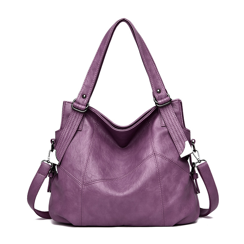 Retro female hand pillow small bag first layer cowhide European and American fashion leather one shoulder diagonal female bag