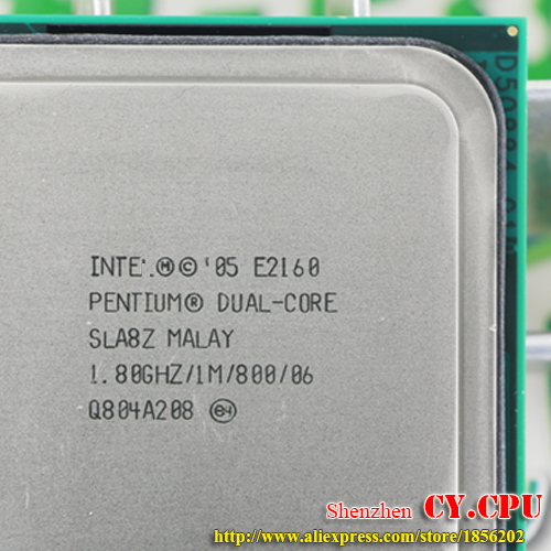US $3 5 |Intel Pentium Dual Core E2160 CPU Processor (1 8Ghz/ 1M /800GHz)  Socket 775 free shipping-in CPUs from Computer & Office on Aliexpress com |