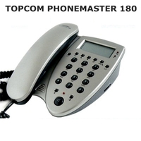 TOPCOM Phonemaster 180 with SIM Card access caller ID telephone corded Phonebook copy and view Export to Europe America