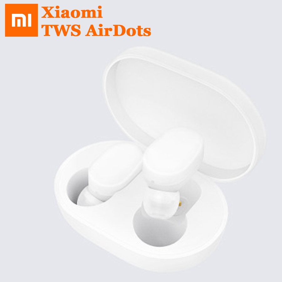 Xiaomi TWS AirDots Bluetooth Earphone Youth Version Stereo Bass BT 5 0 Headphones Mic Handsfree Earbuds