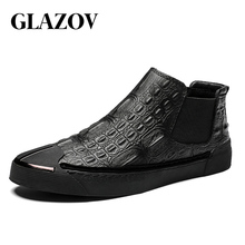 Brand Man Casual Shoes Autumn Mens Genuine Leather Handmade