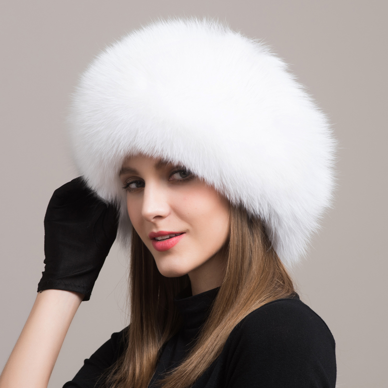 2017 Real Time-limited Solid Adult Women Winter Fur Hat Natural Fox Autumn And Female Bomber