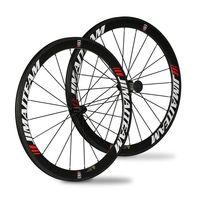 JIMAITEAM New 50mm Clincher Carbon Wheelset 100 Carbon Fiber Bike Wheels 700c Carbon Wheelset R13 Flower