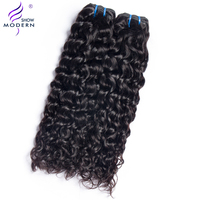 Modern Show Hair Malaysian Water Wave Weave Bundles 100% Human Hair Extensions 1 3 4 Piece Only Non Remy Hair 10 28 Inch Can Buy