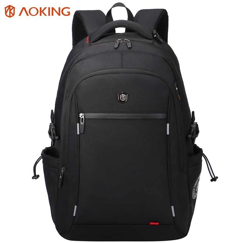 Aoking Travel Leisure Backpack School Men's Laptop Backpacks Waterproof Nylon Large Capacity Backpack With Reflective Stripe