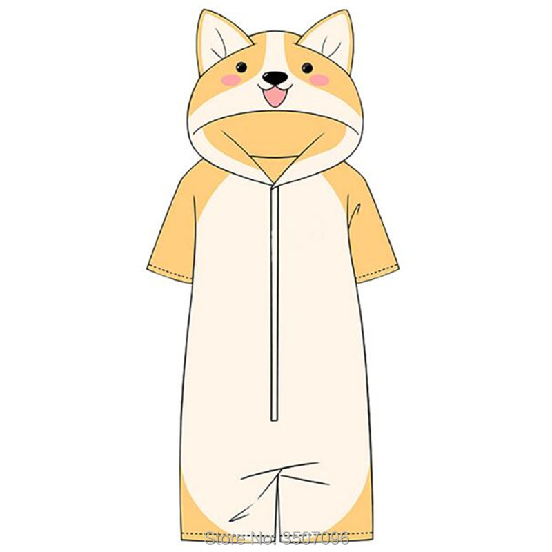 Harajuku Japanese Shiba Inu Cosplay Costume Kawaii Doge Funny Jumpsuit Women Unisex Boy Girls Sleepwear Homewear Anime Hoodies