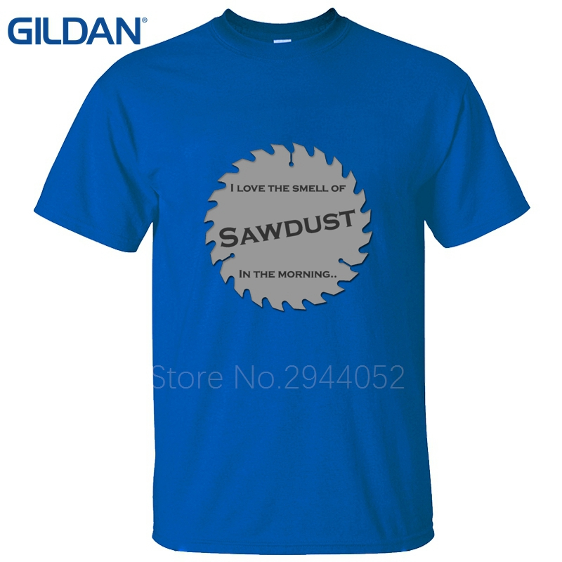 good quality Sawdust Carpenter Woodworking Tools I Love The Smell of Saws  in the Morning Binford Man Glitter Time t shirt-in T-Shirts from Men s  Clothing on ... 0d43e11542e6