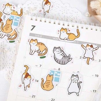 46 pcs Pet daily paper sticker Cartoon animal decoration kids diy scrapbooking tools sticker kawaii Children stationery stickers