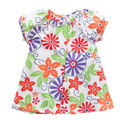 baby summer short-sleeve thin 100% cotton Flower print princess dress FREE SHIPPIG