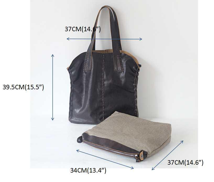 Vintage Simple Nature sac à main en cuir de vache pour les femmes sacs composites en cuir véritable sac à bandoulière grande taille à la main tricot - 3