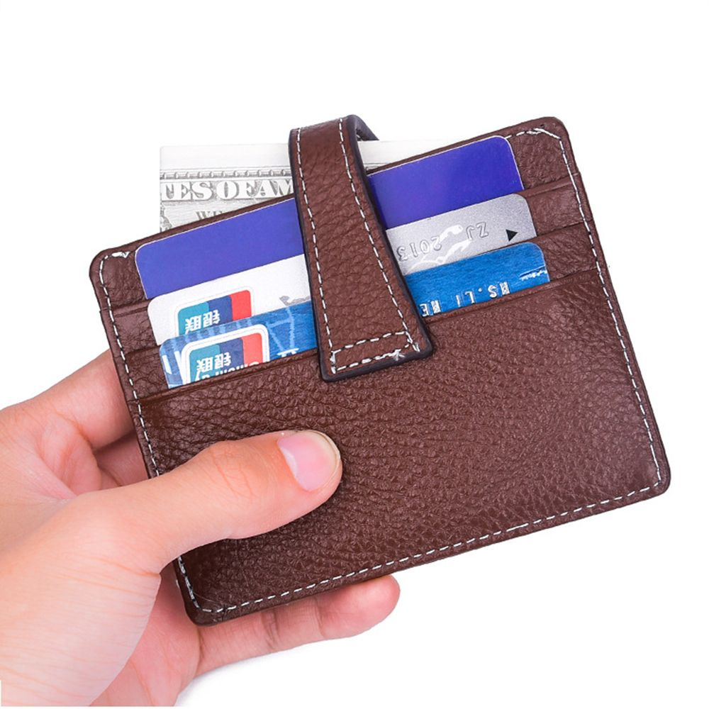 Retro Style Men's Genuine Leather Card Wallet Small Purse Credit ID Holder Purse Coin Bag New Fashion